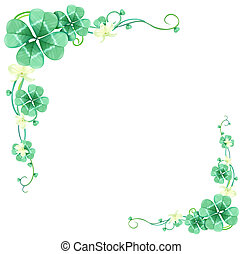 green leaves and vines - illustration drawing of green...