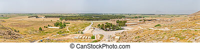Persepolis high resolution panorama - Ruins of old city...