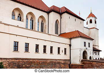 building of Spilberk castle in Brno town, Czech - travel to...