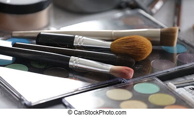 Make-up brushes and cosmetic palette - Make-up brushes...