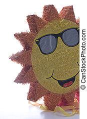 Pinata sun - Back lite pinata, the pinata is a sun wearing...