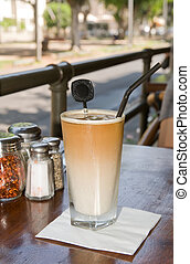 Time for coffee - Ice coffee served in a glas