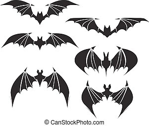 Symbol of bat with big wings