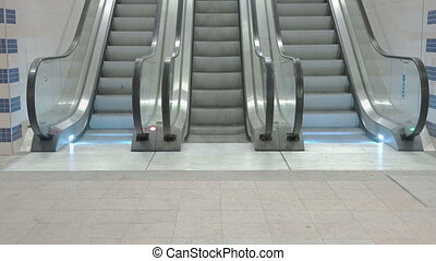Train Station Escalators - Loopable shot of escalators...