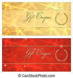 Gift certificate, Voucher, Coupon. Stars