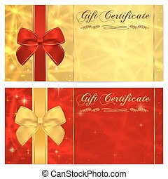Gift certificate, Voucher, Coupon. Bow - Gift certificate,...