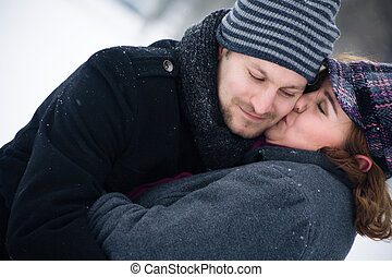 A kiss in the winter