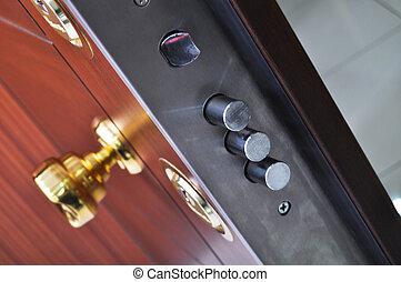 Modern front door - Wood looking front door. internal...