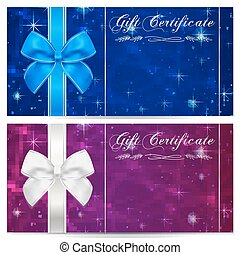 Gift certificate, Voucher, Coupon. Bow