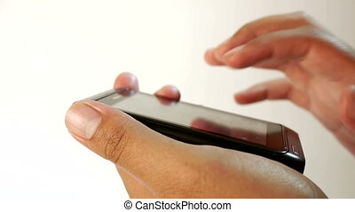 fingers the out a text message