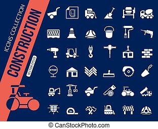 Construction icons collection.