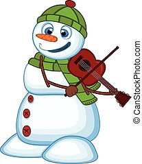 Snowman with green head cover