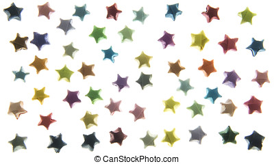 background stars isolated on white