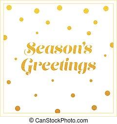 vector gold seasons greetings card design
