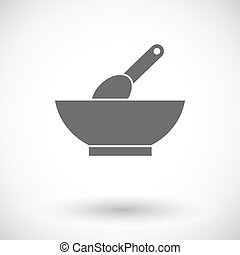 Baby food icon Flat vector related icon for web and mobile...