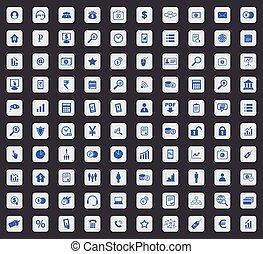100 B2B icon set, square