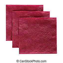 New disposable paper table napkins - Stack of new disposable...