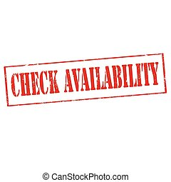 Check Availability-stamp - Grunge rubber stamp with text...