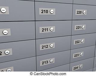 3d render of deposit boxes