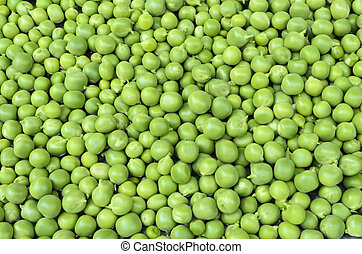 Fresh green peas - Close up of fresh green peas background