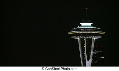 Top of Seattles Space Needle 3 of 3