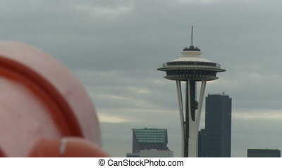 Tourists view of downtown Seattle 2 of 2