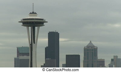 Seattles Space Needle early morning 1 of 2