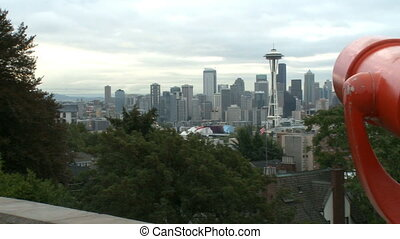 Tourists view of downtown Seattle 1 of 2