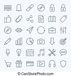 Line Universal Web and Mobile User Interface Icons Set....
