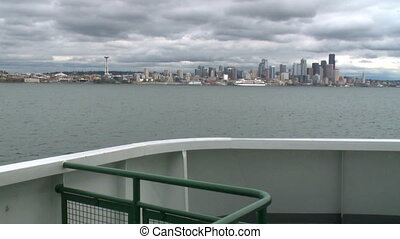 Ferry sails into Seattle