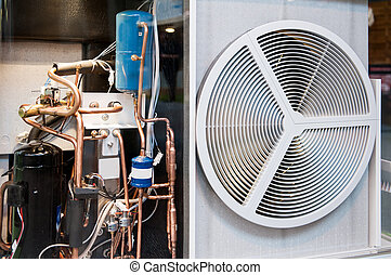heating and AC air conditioning unit transparent - Seen...