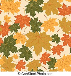 Vector seamless with autumn maple leaves - Vector seamless...
