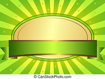 Green Easter card (vector EPS 10) - Green Easter card with...