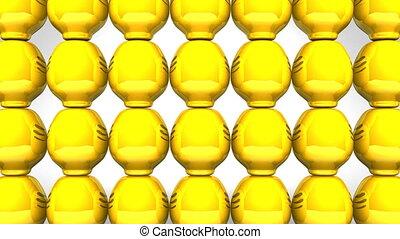 Spinning Daruma Dolls - Spinning Yellow Daruma Dolls On...
