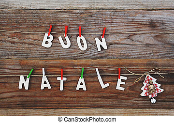 buon natale - merry christmas background