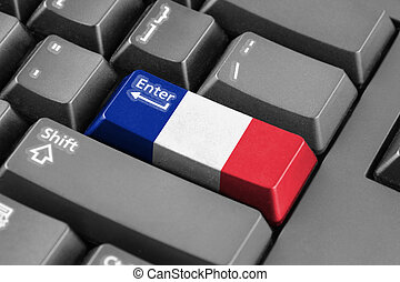 Enter button with France Flag