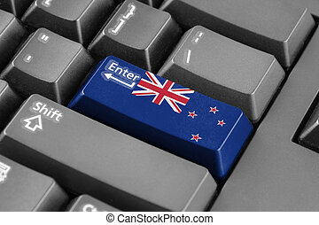 Enter button with New Zealand Flag