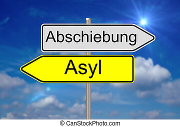 Deportation - Sign with the german words Deportation and...