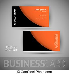 Business Card Template With Sample Texts - Business card...