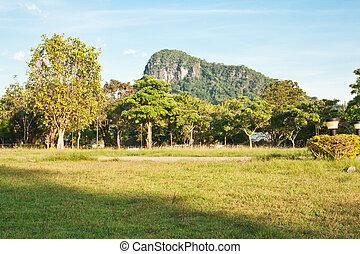 Beautiful mountains near Pattaya, Thailand (Silver lake...