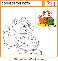 connect the dots - Connect the dots, preschool exercise task...