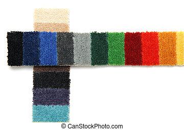 samples of carpeting