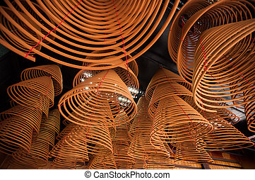 Coils incense. - Coils incense for preyer hanging in temple.