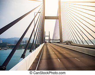 Tsing Ma bridge. - Tsing Ma bridge in Hong Kong