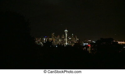 Downtown Seattle evening - medium zoom in