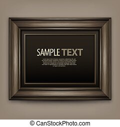 Wooden frame - Picture wooden frame isolated on white,...