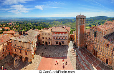 Montepulciano town panorama in Tuscany, Italy Historic city...