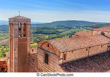 La Cattedrale di Santa Maria Assunta Montepulciano, Tuscany,...