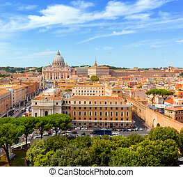 Vatican City St Peter and 39;s Basilica and Vatican museums...