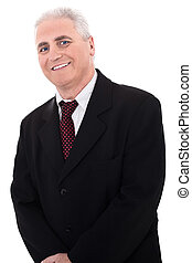 ceo - Portrait of business man on isolated white background